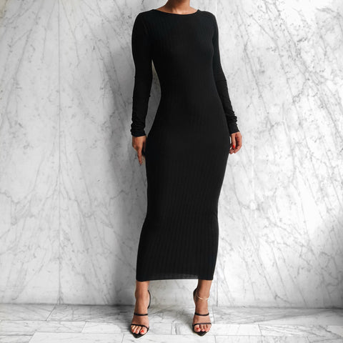 LS DANA DRESS BLACK