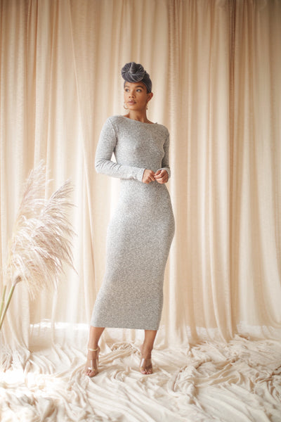 LS DANA DRESS GRAY