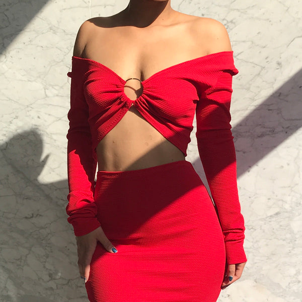 GODDESS TOP RED