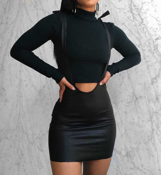 VEGAN LEATHER CHARLIE SKIRT