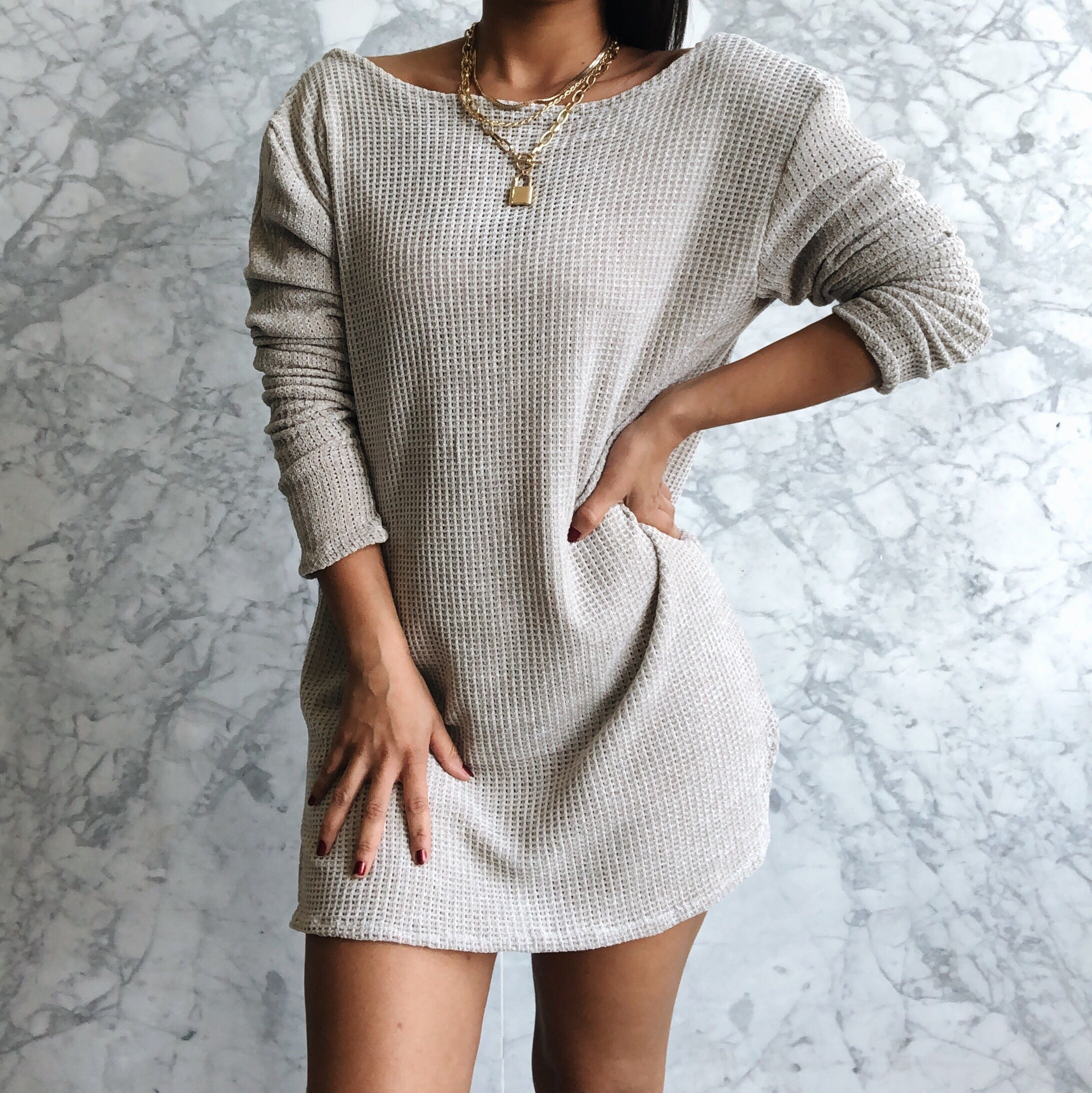 RESTOCK Cuddle Me Tunic Velvet Knit