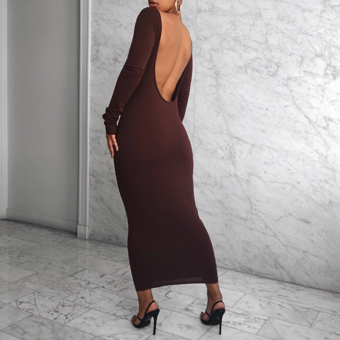 DANA DRESS CHOCOLATE