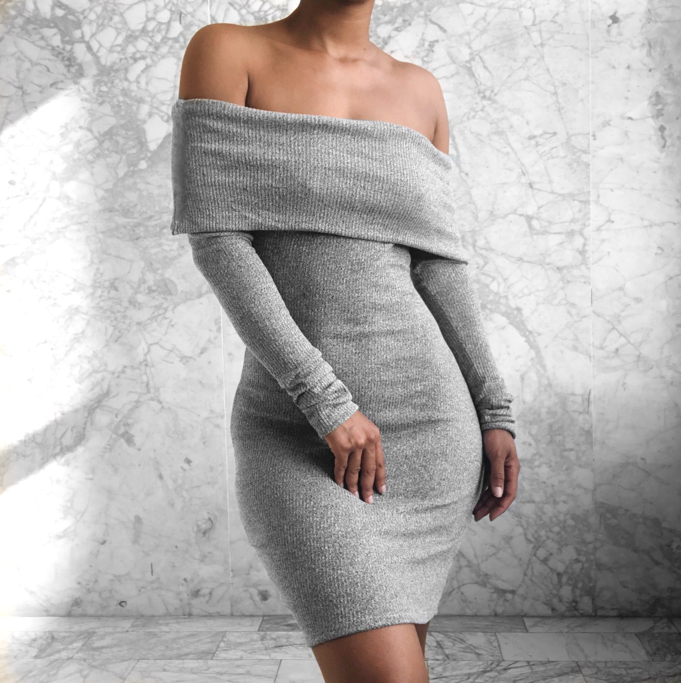 Audrey Dress Grey