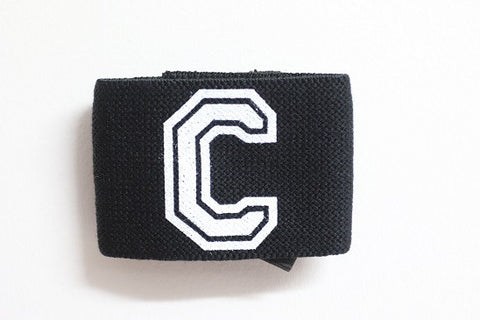 Captains Arm Band - Black/White