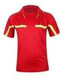 Red Referee Shirt & Shorts Set