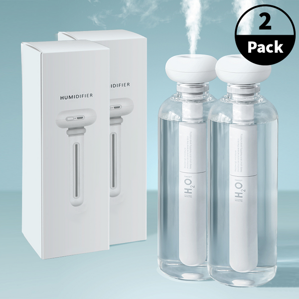 2-Pack Portable Ultrasonic Cool Mist Humidifier Bottle Kit