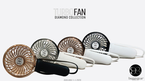 3 Speed USB Rechargeable Buggy TURBO Fan - Diamond Collection