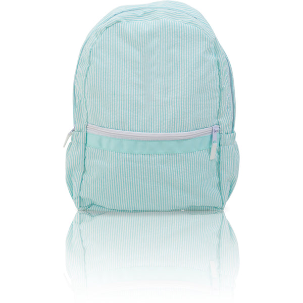 7652b4fac8 Seersucker Backpack - Aqua · Palm Beach Crew