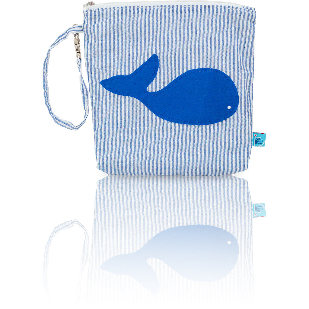Seersucker Mini: Seaside Collection - Blue/Whale