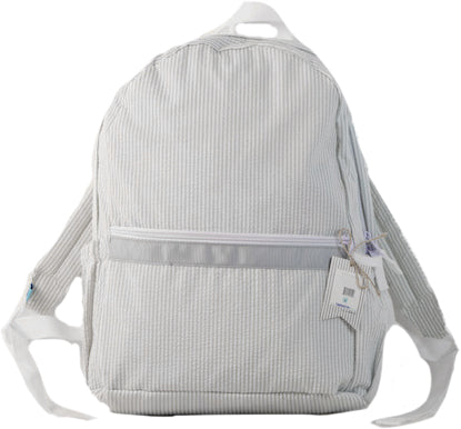 Seersucker Backpack - Gray