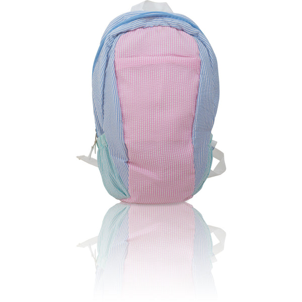 Seersucker Backpack - Multi Color