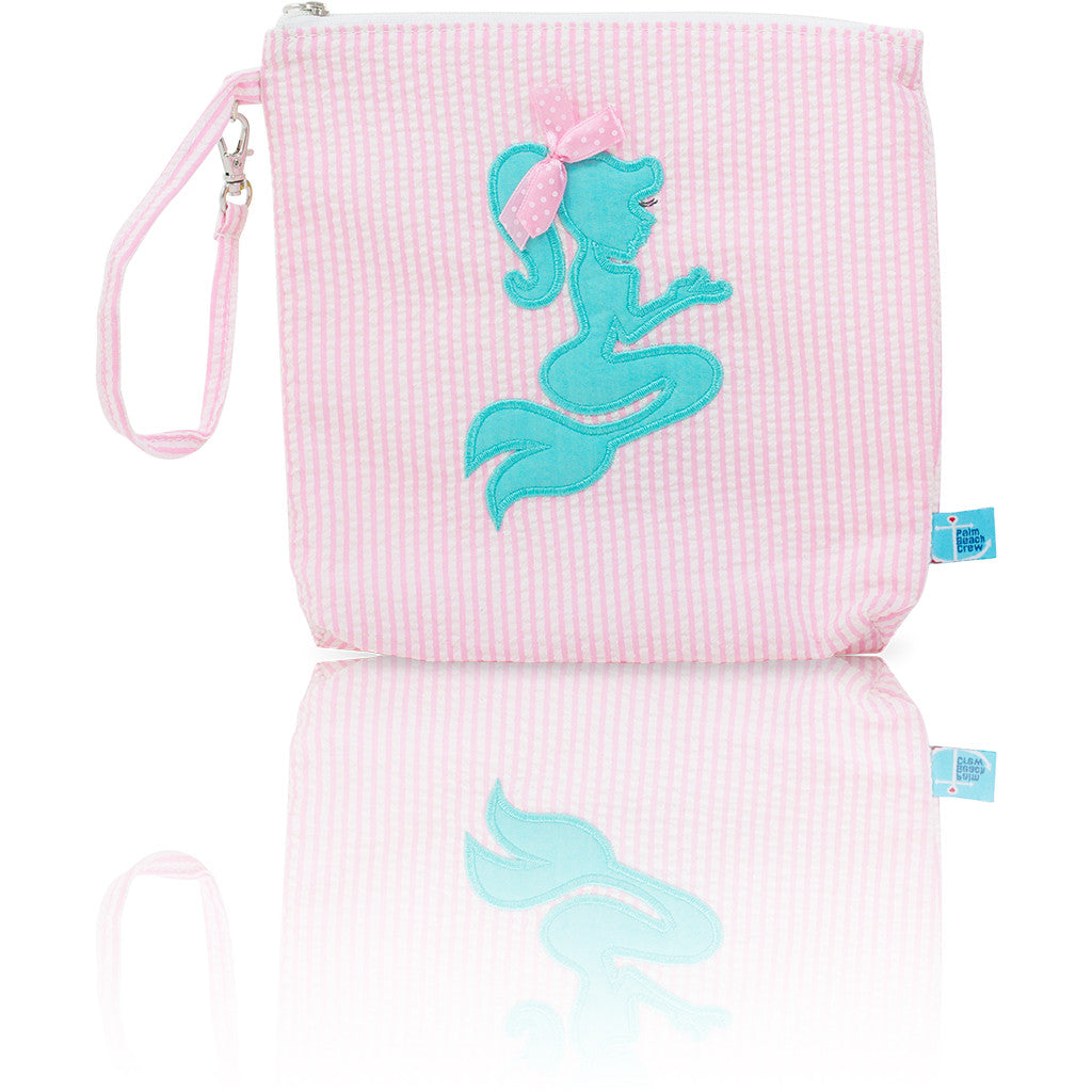 Seersucker Mini: Seaside Collection - Pink/Mermaid