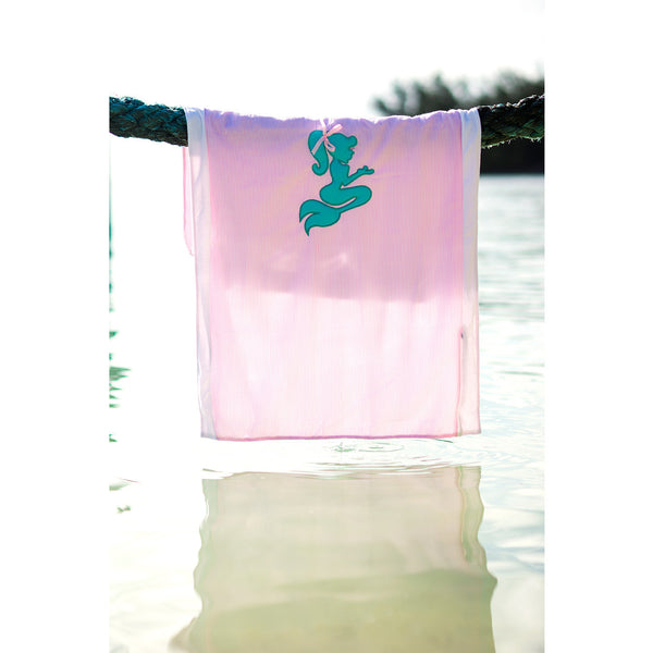 Seersucker Seaside Collection: Towel-Ket - Pink/Mermaid