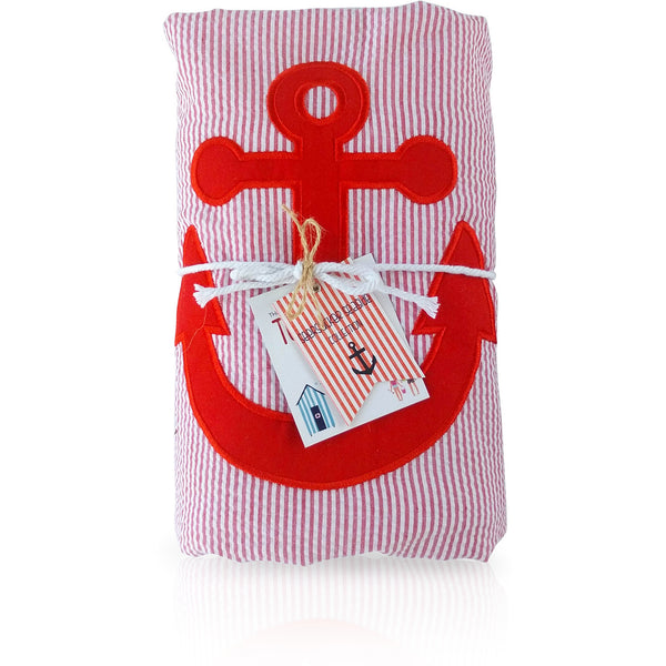 Seersucker Seaside Collection: Towel-Ket - Red/Anchor