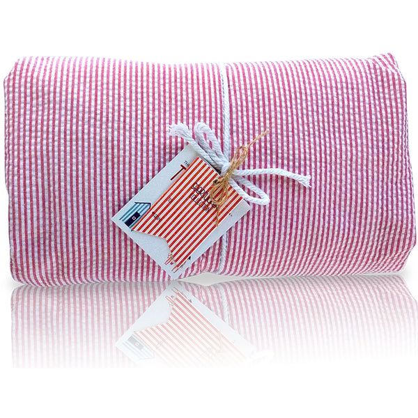 Seersucker Towel-Ket - Red