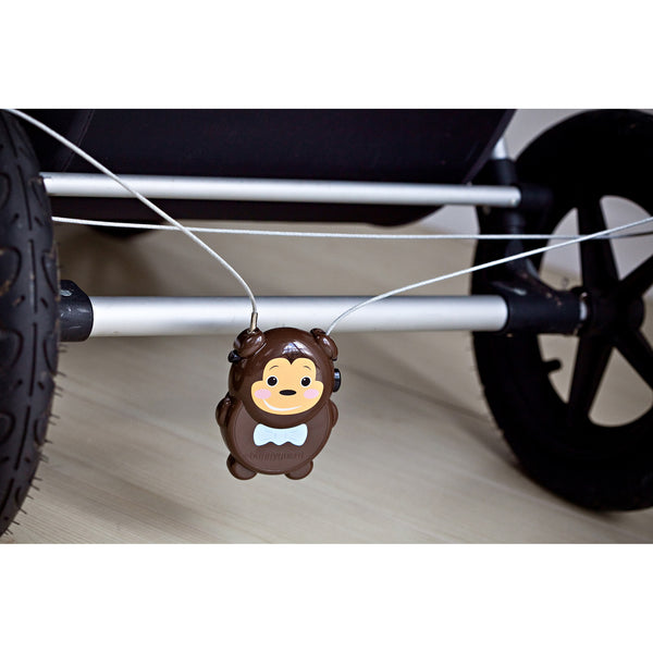 Buggyguard Anti-Theft Retractable Stroller Lock: Rainforest Collection - Monkey
