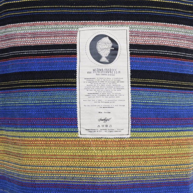 "Protect your surfboard while traveling to your favorite surf spot with this handwoven surfboard sock. Featuring a tight ribbed weave and a drawstring closure system, this surfboard bag is durable and enables you to quickly get your surfboard in or out.  Póvoa surfboard day bags are handmade in Póvoa, Portugal. The purchase of this surfboard bag supports small independent artisans.  Fits boards up to 22"" wide Fits longboards and shortboards (please choose exact size when ordering) For light travel Drawstring"