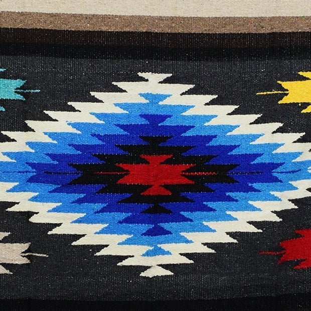 Charcoal Baja Aztec Diamond Mexican Blanket Aztec Diamond Blankets West Path