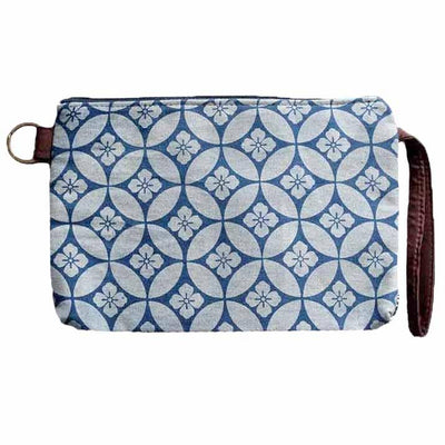 Blue Hibiscus Handmade Clutch Clutches & Pouches Rubyzaar