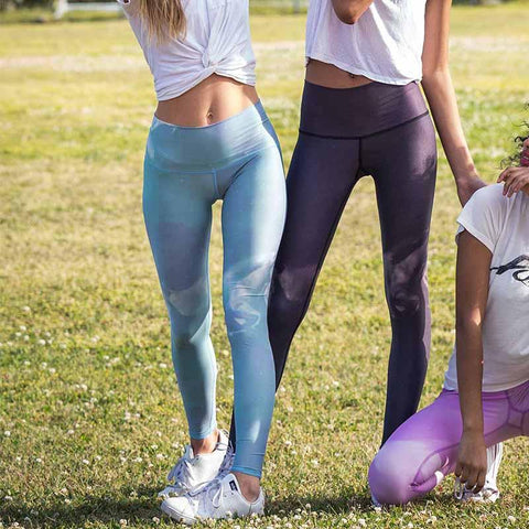 Eco Yoga Pants Blue Green