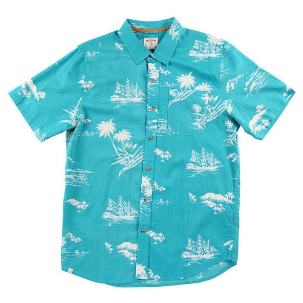 mens teal button up