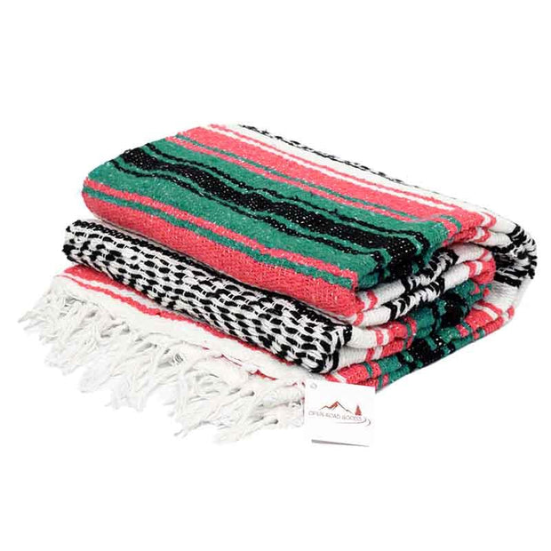 Coral & Sea Green La Playa Yoga Blanket La Playa Blankets West Path