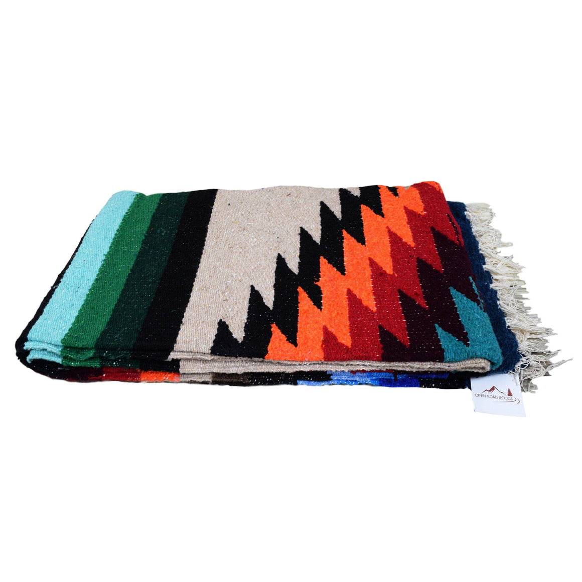 Cozy large West Path Mexican blanket. Photo by Paisley Ann Photography