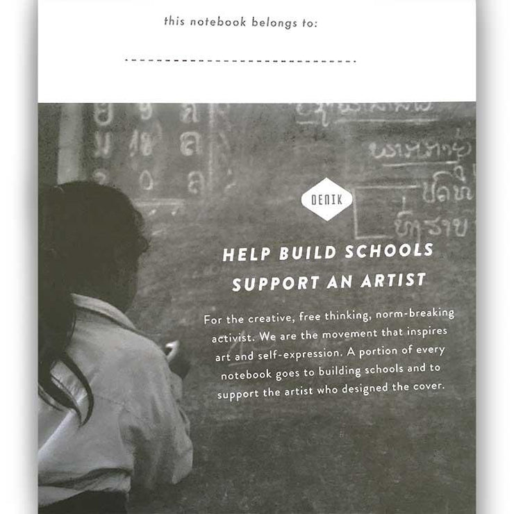 build schools, buy a notebook