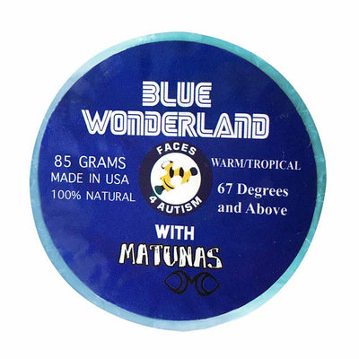Faces 4 Autism Blue Wonderland Surf Wax Surf Wax Matunas Single Bar Cool/Cold