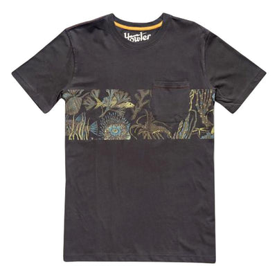 Graphic Pocket T-Shirt - Black West Path
