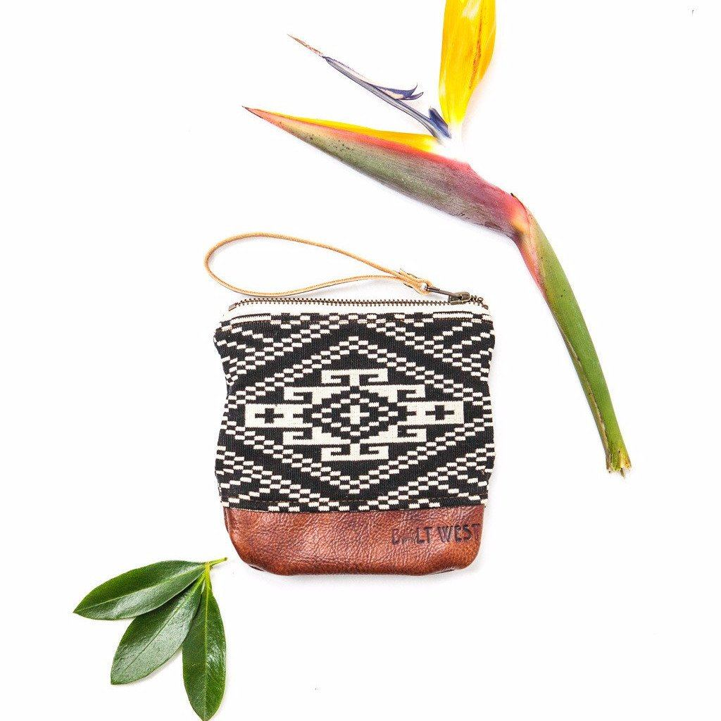 Aztec Leather Wristlet