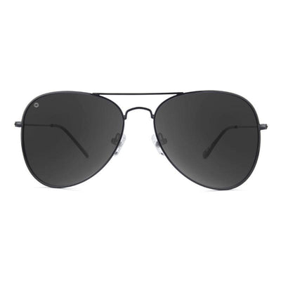 Black Aviator Sunglasses - Polarized Smoke Lenses Sunglasses Knockaround