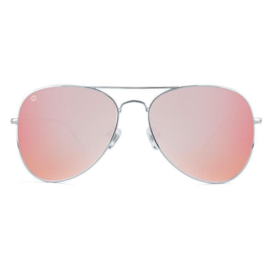 Rose Aviator Sunglasses - Silver Frames Sunglasses Knockaround