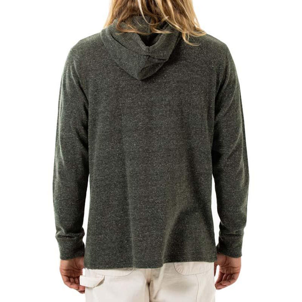 two-toned heather knit hoodie