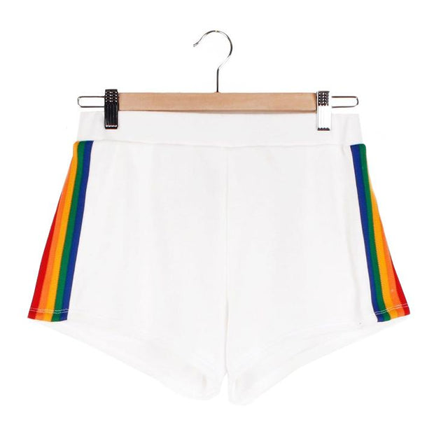 Retro High Waisted Shorts - White Shorts Camp Collection M