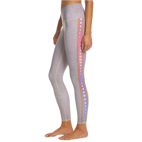 teeki rainbow moon leggings hot yoga purple