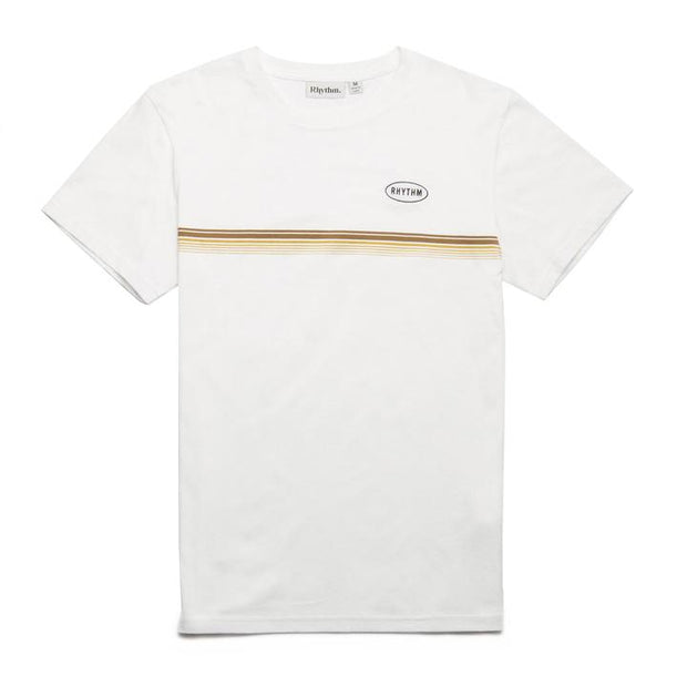 60's Stripe T-Shirt - White T-Shirts Rhythm