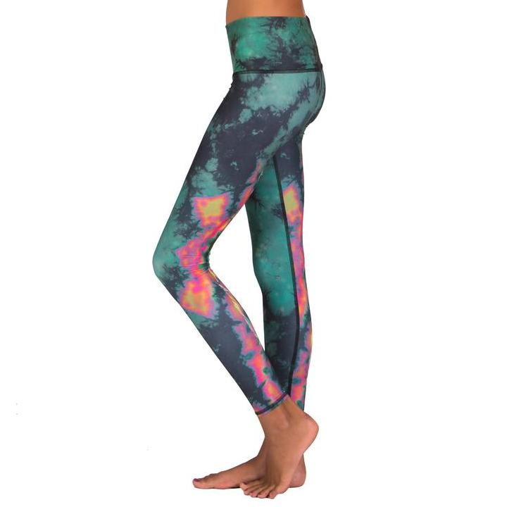 Eco Leggings - Feather Green Leggings Teeki S