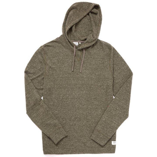 Knit Pullover Drawstring Hoodie - Army Sweaters Katin