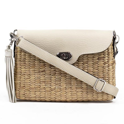 Straw Crossbody Purse - Ivory Bags & Backpacks Sea & Grass