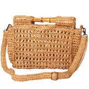 boho straw clutch bag
