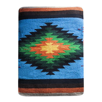 Woven Serape Dog Bed - Blue Dog Bed West Path