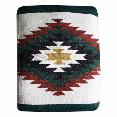 Woven Serape Dog Bed - Bone Dog Bed West Path