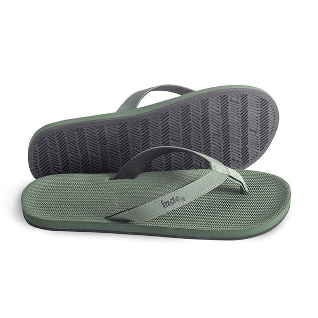 Eco-Friendly Men's Flip Flops - Green Sandals Indosole 10-11
