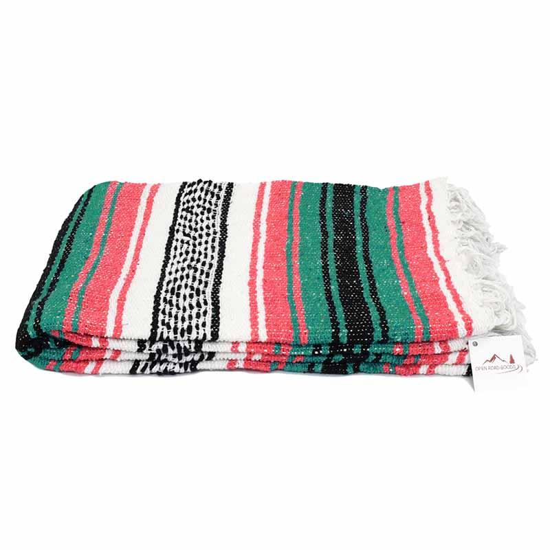 Mexican Blanket Falsa Coral and Green