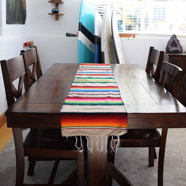 Mexican Table Runner - Tan Table Runners West Path