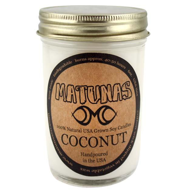 Coconut Soy Candle - All Natural Jelly Jar Candle (8 oz) Candles Matunas