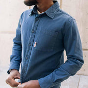 Organic Button Up - Blue Woven Shirts Topo Designs
