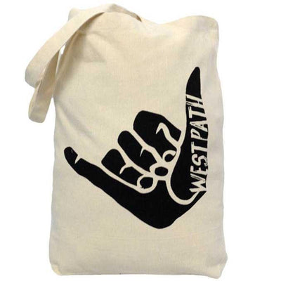 Organic Canvas Tote Bag - Shaka Hang Loose Bags & Backpacks West Path