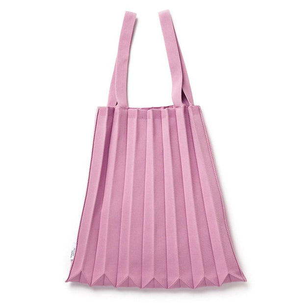 pink knit tote bag